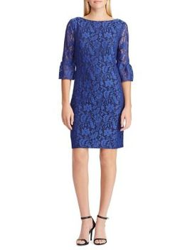 Floral Lace Shift Dress by Chaps