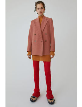 Textured Blazer Old Pink by Acne Studios