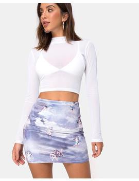 Kimmy Bodycon Skirt In Angel Velvet Grey By Motel by Motel