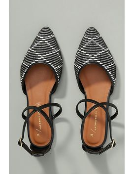 Anthropologie Ginger Strappy Flats by Anthropologie