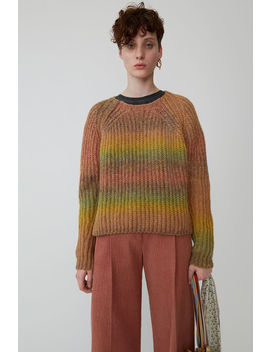 Ombr Z Striped Sweater Yellow/Pink by Acne Studios