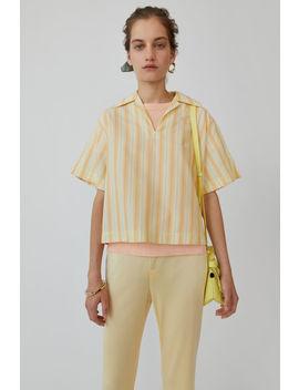 Boxy Striped Shirt Yellow/White by Acne Studios