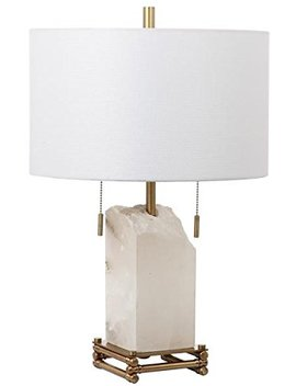 "Safavieh"" Lighting Collection Pearl Alabaster 24"" Table Lamp, White by Safavieh"