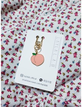Airpds Peach Keychain Keyring by Etsy