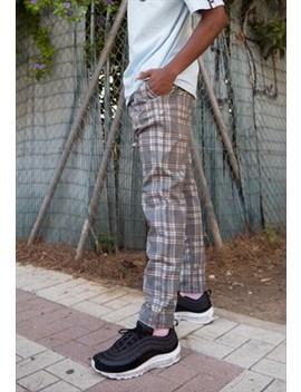 Trousers In Grey Tartan by Hurthado Clo'