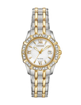 26mm Two Tone Diamond Bracelet Watch by Citizen