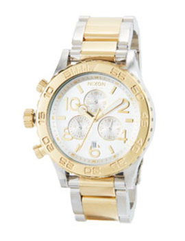 42mm 42 20 Chrono Bracelet Watch, Silver/Golden by Nixon