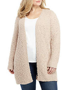 Plus Size Popcorn Chenille Sweater by New Directions