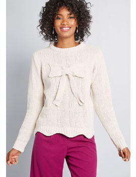 To Great Effect Chenille Sweater by Compania Fantastica