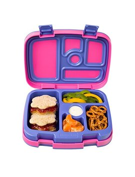 Bentgo Kids Brights – Leak Proof, 5 Compartment Bento Style Kids Lunch Box – Ideal Portion Sizes For Ages 3 To 7 – Bpa Free And Food Safe Materials (Fuchsia) by Bentgo