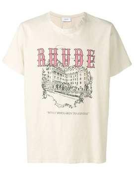 Museum Print T Shirt by Rhude
