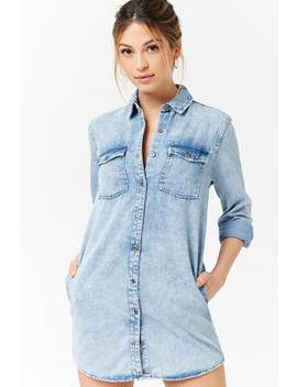 Denim Shirt Dress by Forever 21