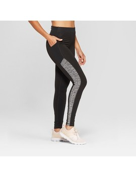 Women's Running Mid Rise Leggings   C9 Champion® Black by C9 Champion®
