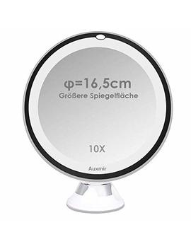 Make Up Mirror Led Illuminated With 10 X Magnification And Suction Cup, 360 ° Pivoting, Make Up Mirror Auxmir Make Up Mirror With No Illumination For Home And Away by Amazon