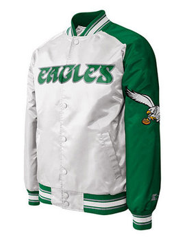 Men's Philadelphia Eagles Starter Dugout Championship Satin Jacket by G Iii Sports