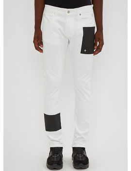 Taped Jeans In White by 1017 Alyx 9 Sm