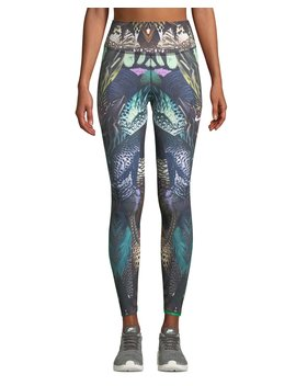 Power Printed Mid Rise Training Tights by Nike