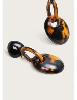 Σκουλαρίκια ρητίνη συνδυασμός by Mango