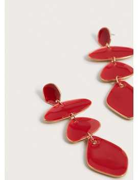Σκουλαρίκια γεωμετρικές πέτρες by Mango