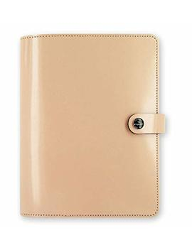 Filofax The Original Patent Nude A5 Size Leather Organizer Agenda Ring Binder Diary Non Dated Calendar With Di Loro Jot Pad Refills 022387 by Filofax