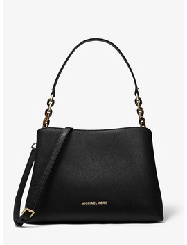 Sofia Large Saffiano Leather Satchel by Michael Michael Kors