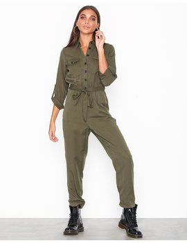 Long Sleeve Utility Jumpsuit by New Look