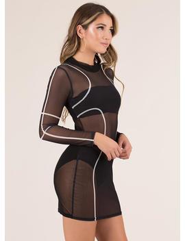 Great Lines Sheer Mesh Minidress by Go Jane
