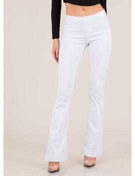 Take It Easy Flared Denim Pants by Go Jane