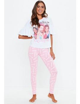 White Clueless Legging Pyjama Set by Missguided