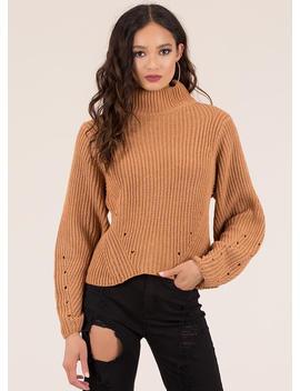 Hole New World Turtleneck Sweater by Go Jane