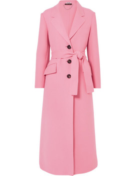 Belted Wool Coat by Miu Miu