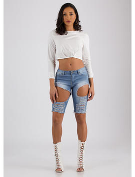 Raise Me Up Puffy Pleated Crop Top by Go Jane