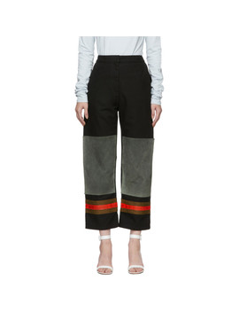 Black & Grey Worker Trousers by Calvin Klein 205 W39 Nyc