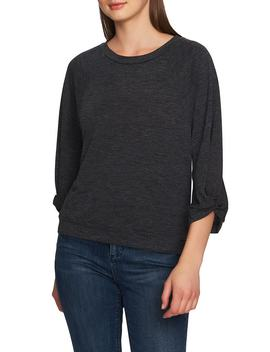 Twist Knot Sleeve Crewneck Top by 1.State