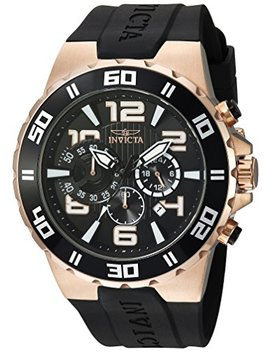 Invicta Men's 'pro Diver' Quartz Stainless Steel And Polyurethane Casual Watch, Color:Black (Model: 24672) by Invicta