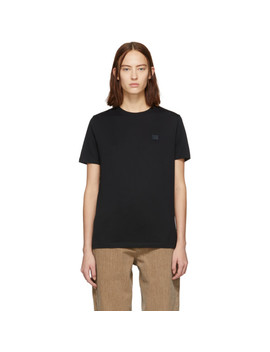 Black Ellison Face T Shirt by Acne Studios