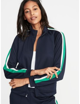 Sleeve Stripe Track Jacket For Women by Old Navy
