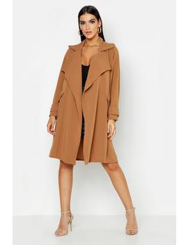 Large Collar Pocket Duster by Boohoo