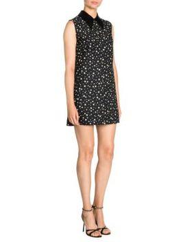 Paiette Star Print Collared Shift Dress by Miu Miu