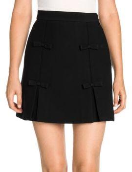 Bow Detail Mini Skirt by Miu Miu