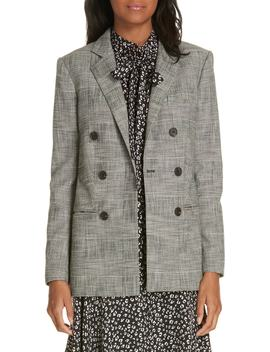 Double Breasted Plaid Blazer by Rebecca Taylor