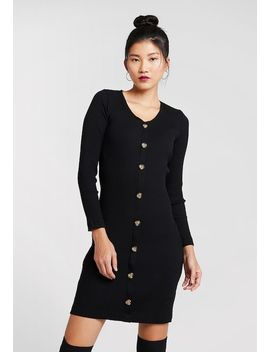 Horn Button Bodycon   Jerseykjoler by Dorothy Perkins