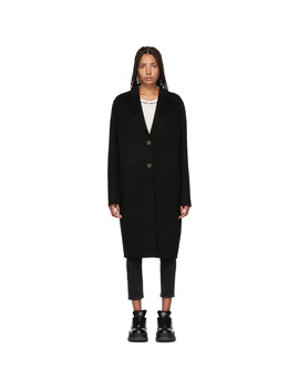Black Avalon Double Trench Coat by Acne Studios