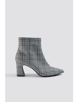 Checked Ankle Boots by Na Kd Shoes