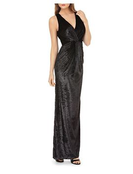 Shiny Velvet Gown by Js Collections