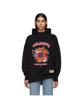 Black Cartoon Hoodie by Vetements