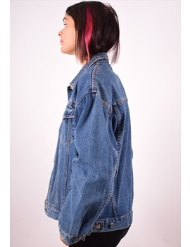 Womens Vintage Denim Jacket Xl Blue 90s by Messina Girl