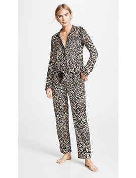 Give Love Cheetah Printed Pj Set by Pj Salvage