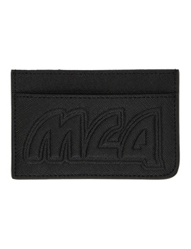 Black Metal Logo Card Holder by Mcq Alexander Mcqueen