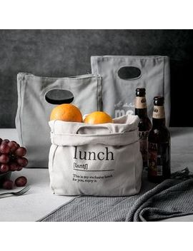 Mimo   Canvas Insulated Lunch Bag / Set: Lunch Box + Cutlery + Soup Container by Mimo